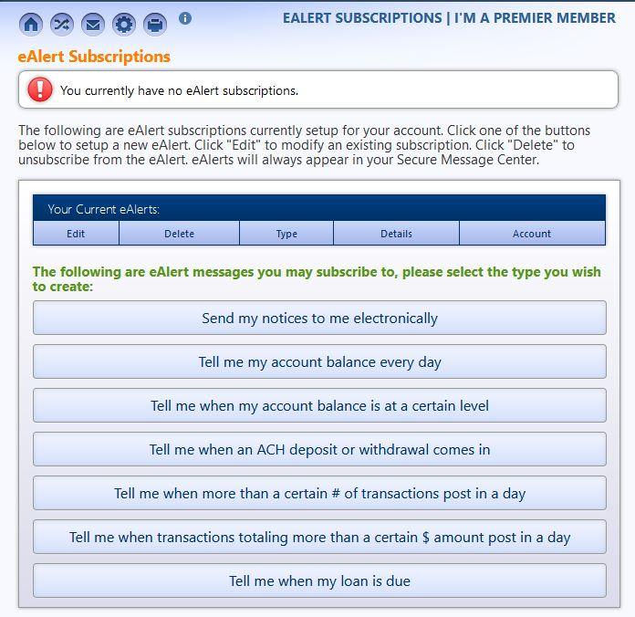 e-Alerts screenshot 2