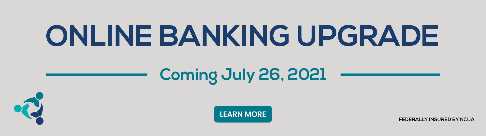 Online Banking Update website Banner