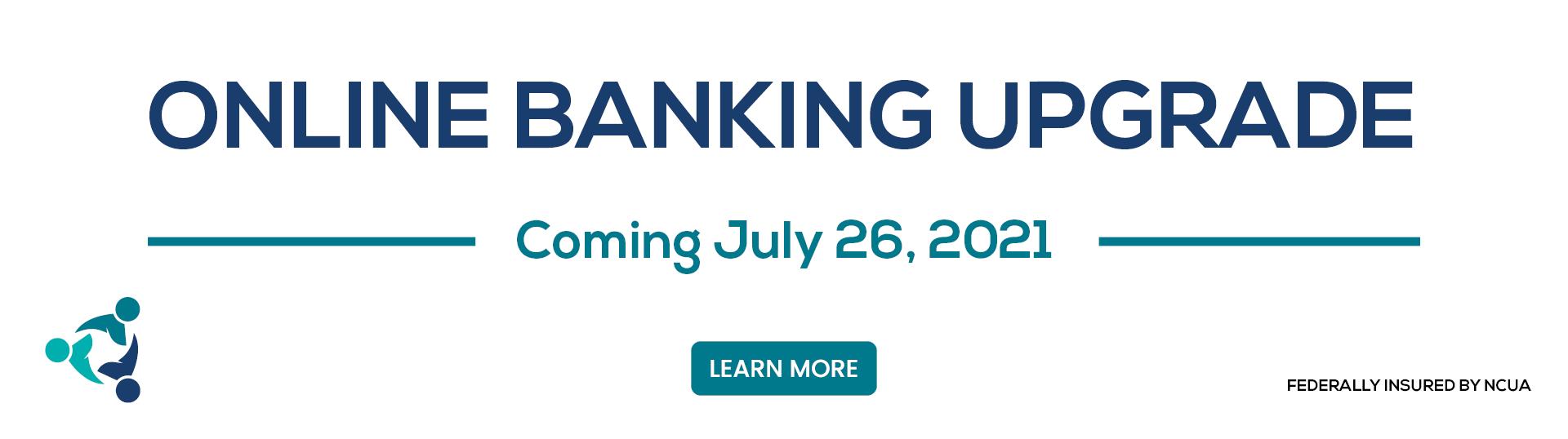 Online Banking Update Banner