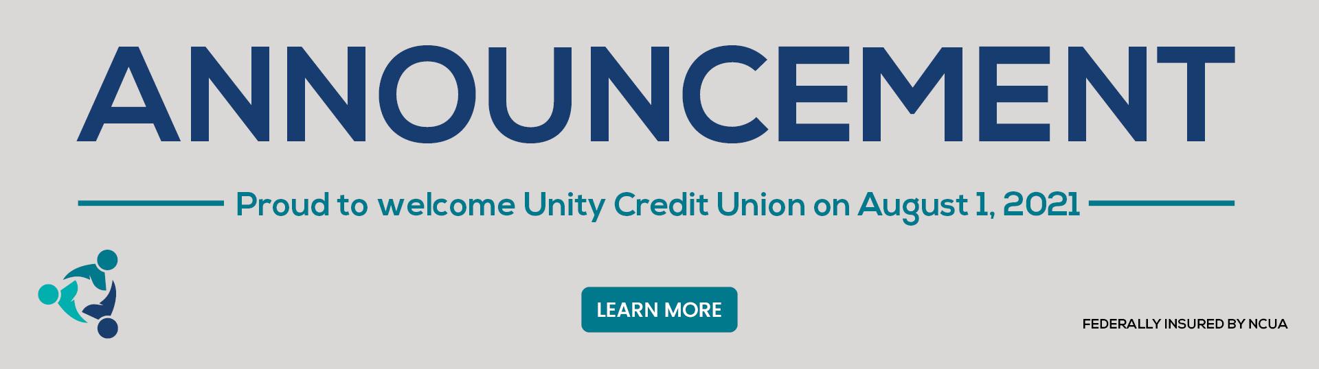 Welcome Unity website banner